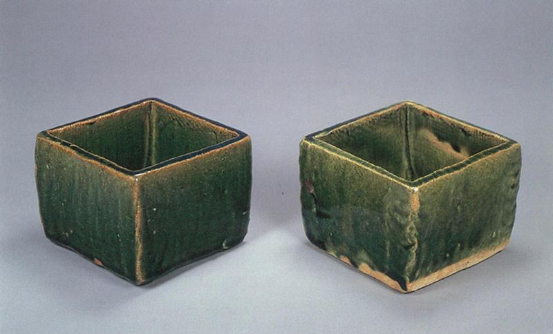 総織部四方向付(3点)北大路魯山人作 - MIHO MUSEUM Museum
